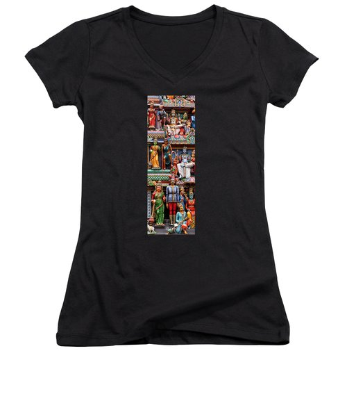Sri Mariamman Temple 03 Women's V-Neck (Athletic Fit)