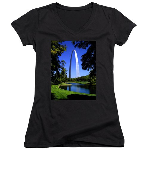 St Louis Gateway Arch Women's V-Neck