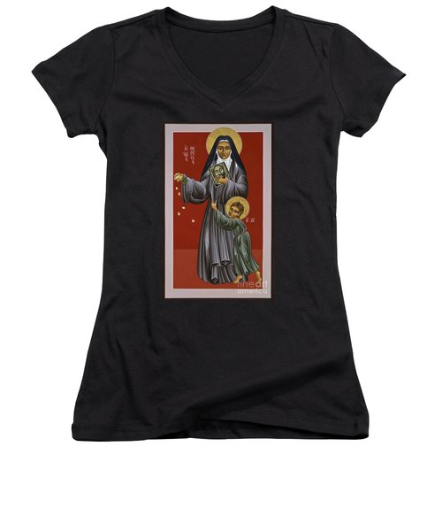 St. Therese Of Lisieux Doctor Of The Church 043 Women's V-Neck