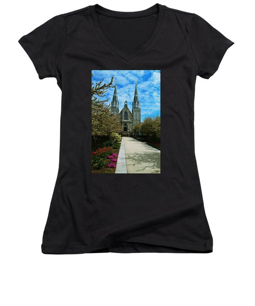 St Thomas Of Villanova Women's V-Neck T-Shirt
