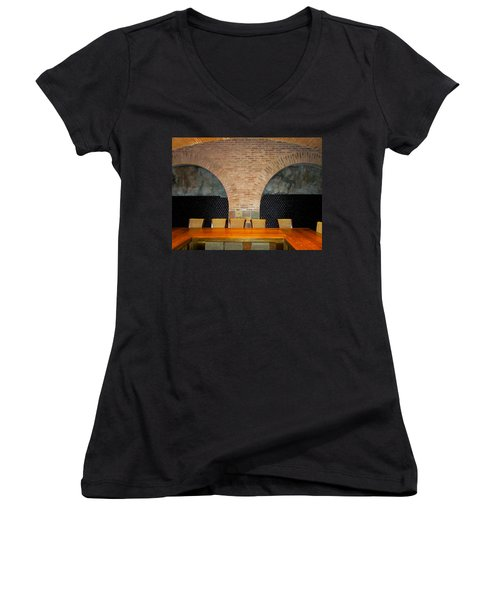 Stacked Women's V-Neck T-Shirt