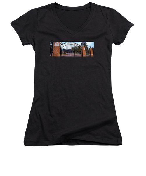 Stadium Of A University, Michigan Women's V-Neck T-Shirt (Junior Cut) by Panoramic Images