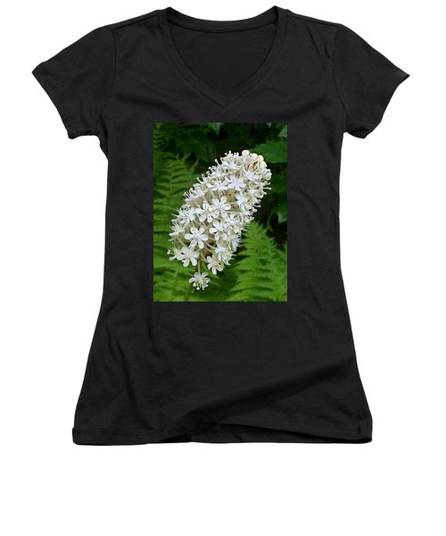 Stagger Grass Lily Women's V-Neck (Athletic Fit)