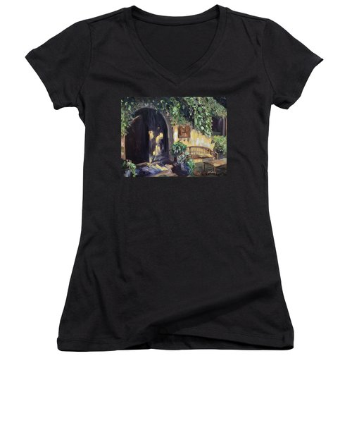 Stags Leap Wine Cellars Tasting Room Women's V-Neck (Athletic Fit)