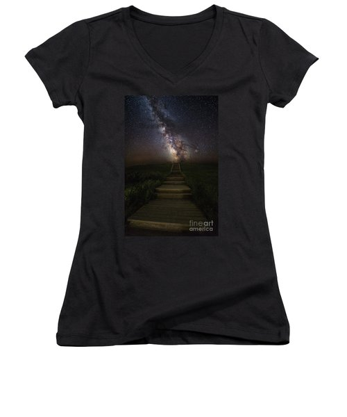 Stairway To The Galaxy Women's V-Neck T-Shirt