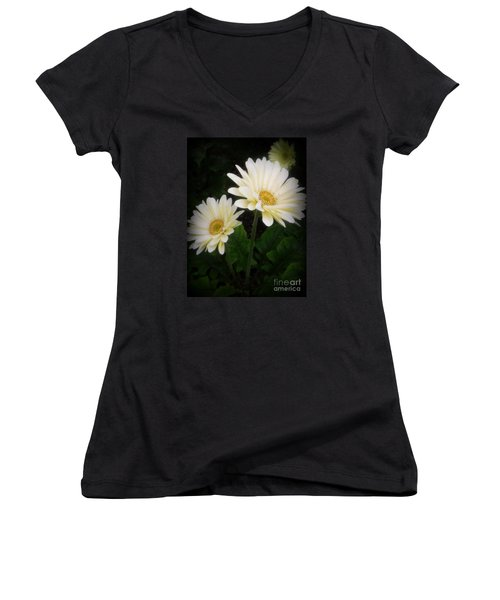 Stand By Me Gerber Daisy Women's V-Neck (Athletic Fit)