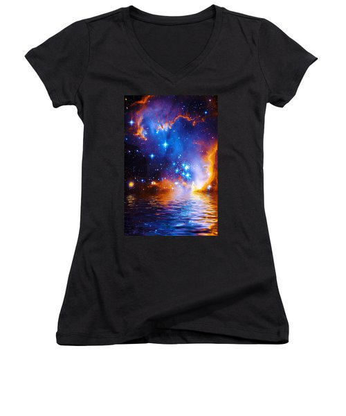 Stars As Diamonds Women's V-Neck (Athletic Fit)