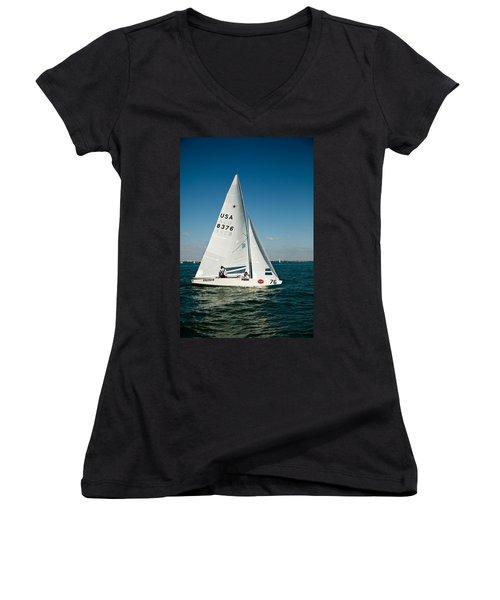 Star Sailboat Women's V-Neck T-Shirt