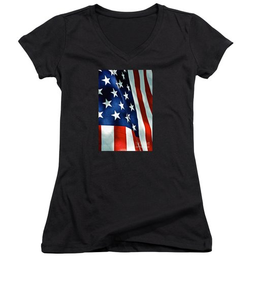 Star-spangled Banner Women's V-Neck (Athletic Fit)