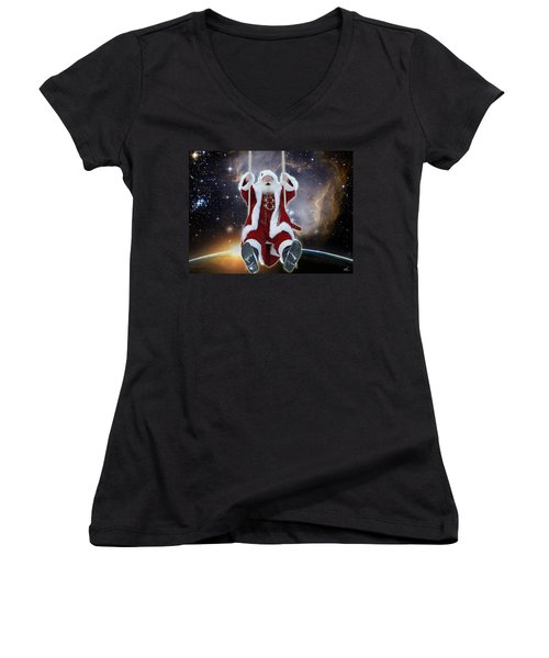 Santa's Star Swing Women's V-Neck