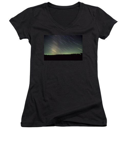 Star Trails Women's V-Neck (Athletic Fit)