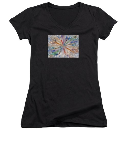 Women's V-Neck T-Shirt (Junior Cut) featuring the photograph Starburst by Geraldine DeBoer
