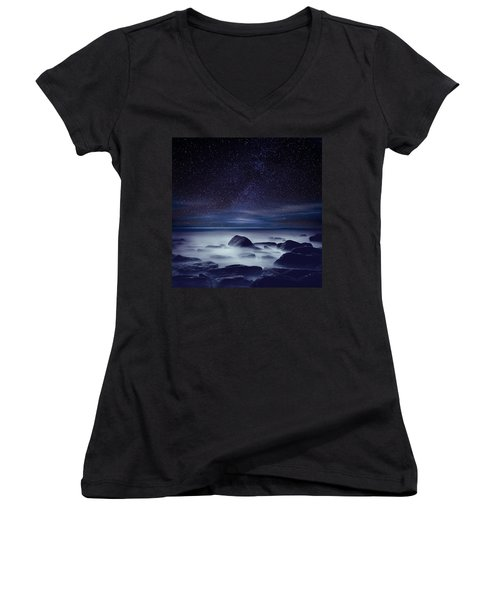 Starry Night Women's V-Neck (Athletic Fit)