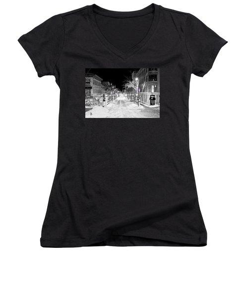 State Street Madison Women's V-Neck T-Shirt (Junior Cut) by Steven Ralser
