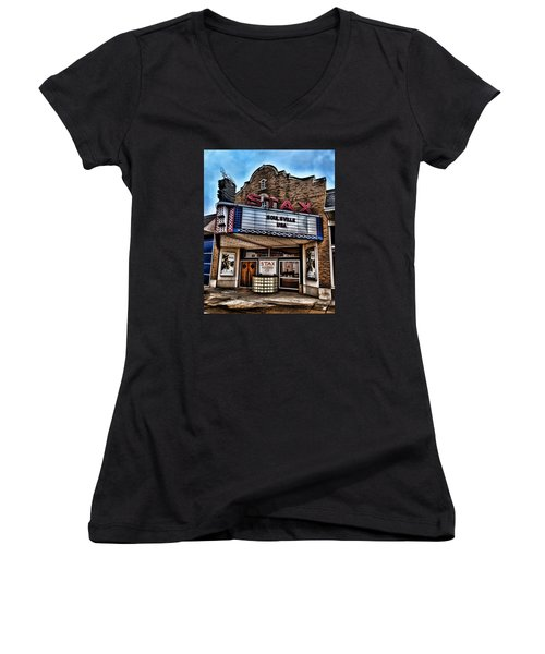 Stax Records Women's V-Neck T-Shirt (Junior Cut) by Stephen Stookey