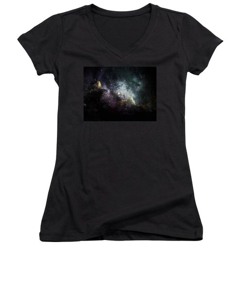 Stellar 2 Women's V-Neck T-Shirt (Junior Cut) by Cynthia Lassiter