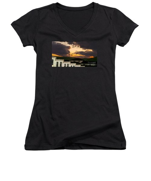 Beautiful Clouds Women's V-Neck (Athletic Fit)
