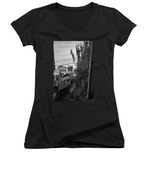 Step Down Women's V-Neck T-Shirt