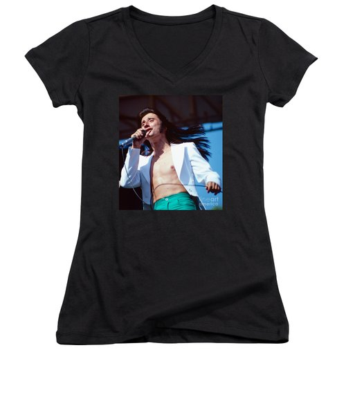 Steve Perry Of Journey At Day On The Green Women's V-Neck (Athletic Fit)