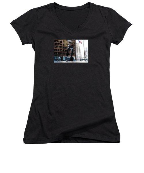 Still Life-162 Tons Women's V-Neck T-Shirt (Junior Cut) by Raymond Perez