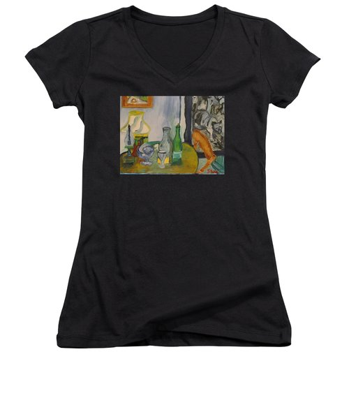 Still Life  With Lamps Women's V-Neck