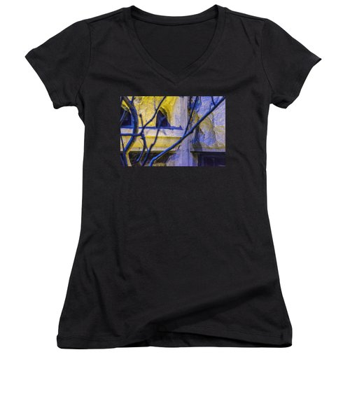 Stone Abstract One Women's V-Neck (Athletic Fit)