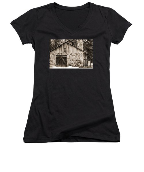Stone Cabin 2 Women's V-Neck (Athletic Fit)