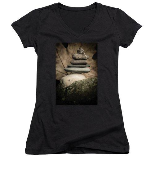 Stone Cairns Iv Women's V-Neck T-Shirt