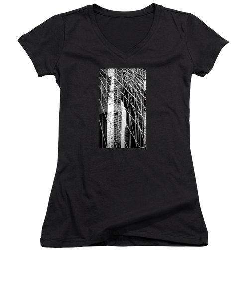 Stone Mortar And Steel Women's V-Neck T-Shirt (Junior Cut)