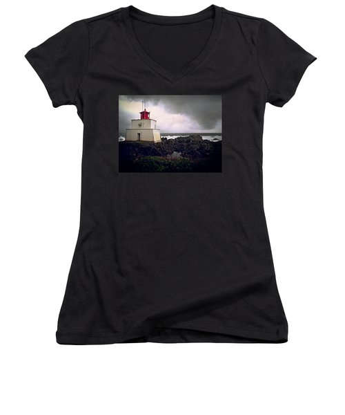 Storm Approaching Women's V-Neck (Athletic Fit)
