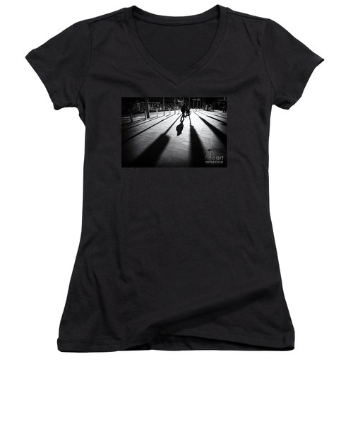 Street Shadow Women's V-Neck (Athletic Fit)