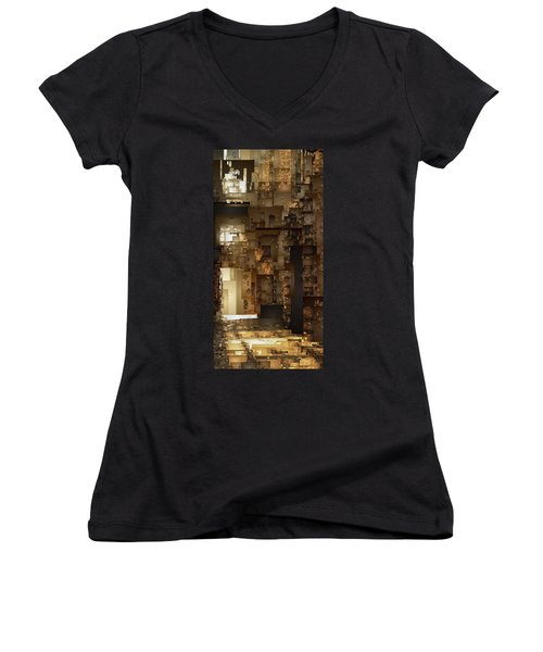 Streets Of Gold Women's V-Neck (Athletic Fit)