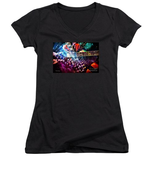 Strings Attached Women's V-Neck T-Shirt