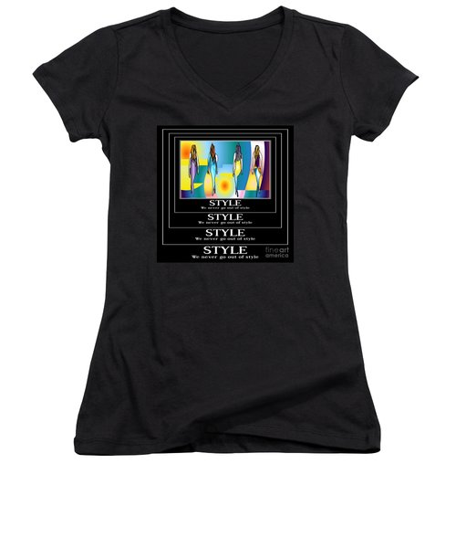 Style Women's V-Neck T-Shirt (Junior Cut) by Kim Peto