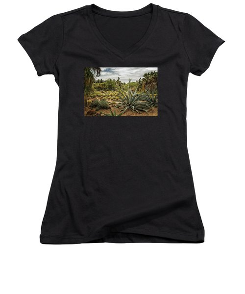 Succulents At Huntington Desert Garden No. 3 Women's V-Neck (Athletic Fit)