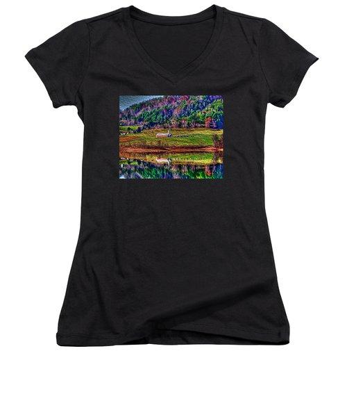 Sugar Grove Reflections 2 Women's V-Neck T-Shirt