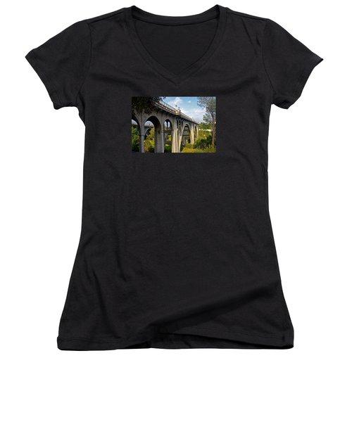 Suicide Bridge Women's V-Neck T-Shirt