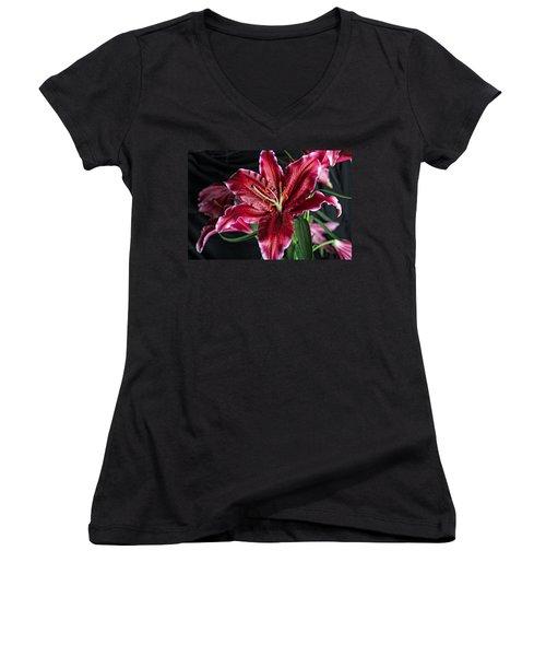 Sumatran Lily Women's V-Neck (Athletic Fit)