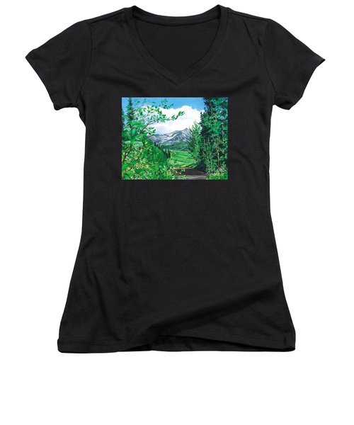 Summer Paradise Women's V-Neck T-Shirt