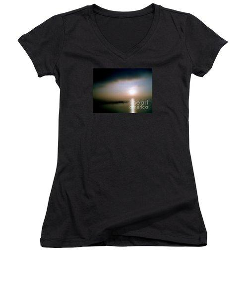 Women's V-Neck T-Shirt (Junior Cut) featuring the photograph Summer Sunrise by Michael Hoard
