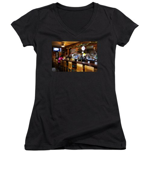 Sumneytown Bar Women's V-Neck (Athletic Fit)