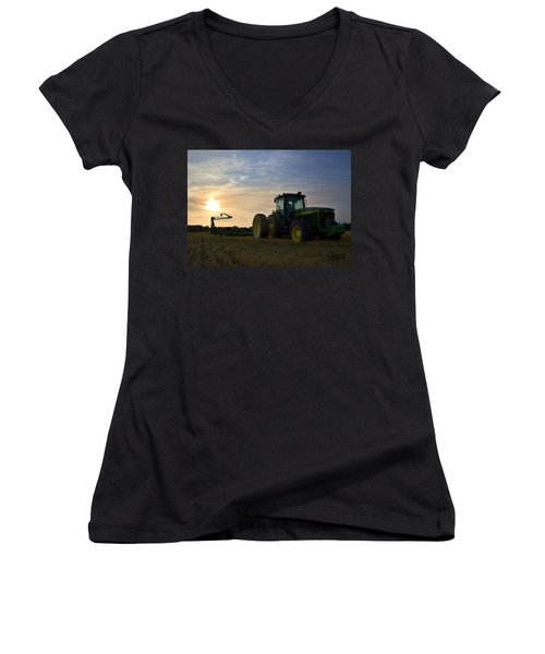 Sun Beans Women's V-Neck T-Shirt (Junior Cut)