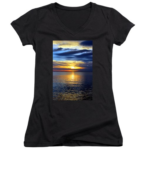Sun Down South Women's V-Neck T-Shirt