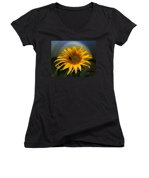 Sun Flower Summer 2014 Women's V-Neck