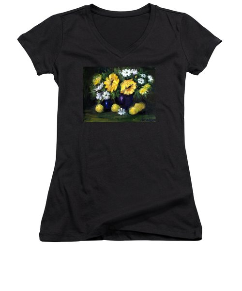 Sun Flowers Women's V-Neck
