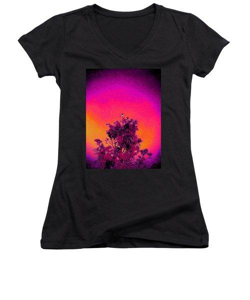 Sunrise To Sunset Nature Is Beautiful Women's V-Neck T-Shirt