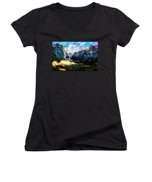 Sunrise Yosemite Valley Nationalpark Women's V-Neck