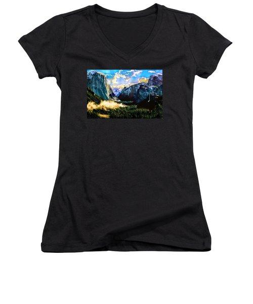Sunrise Yosemite Valley Nationalpark Women's V-Neck