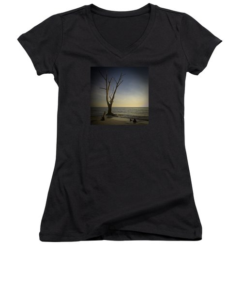 Sunset At Lovers Key Women's V-Neck (Athletic Fit)