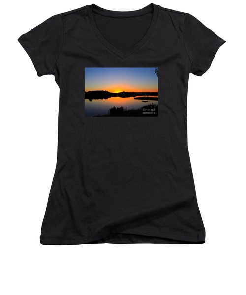 Sunset At The James M. Robb State Park Women's V-Neck T-Shirt
